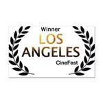 LA CineFest Winner Rectangle Car Magnet
