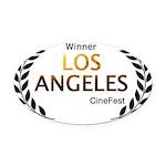 LA CineFest Winner Oval Car Magnet
