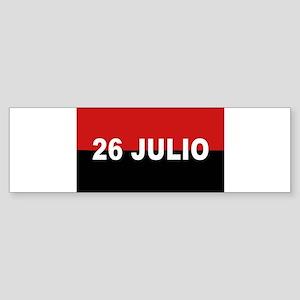 M-26-7 Flag - Bandera del Movimien Bumper Sticker