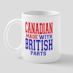 Canadian Made With British Parts Mug