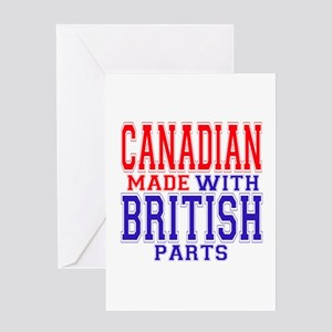 Canadian made with british parts greeting cards cafepress canadian made with british parts greeting card m4hsunfo