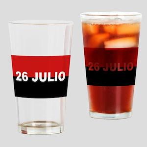 M-26-7 Flag - Bandera del Movimien Drinking Glass