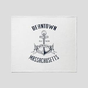 Beantown, Boston MA Throw Blanket