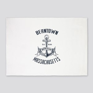 Beantown, Boston MA 5'x7'Area Rug