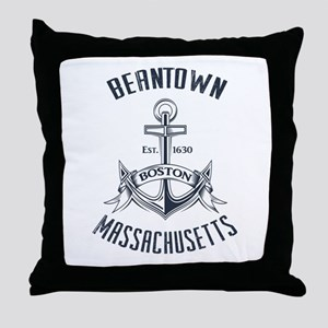 Beantown, Boston MA Throw Pillow