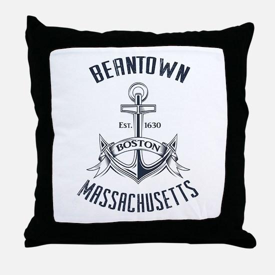 Beantown, Boston MA Throw Pillow