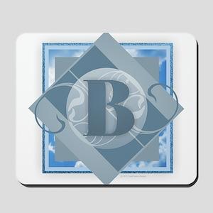 B Monogram - Letter B - Blue Mousepad