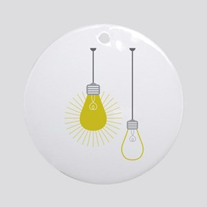 Light Bulbs Round Ornament