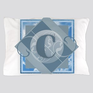 C Monogram - Letter C - Blue Pillow Case