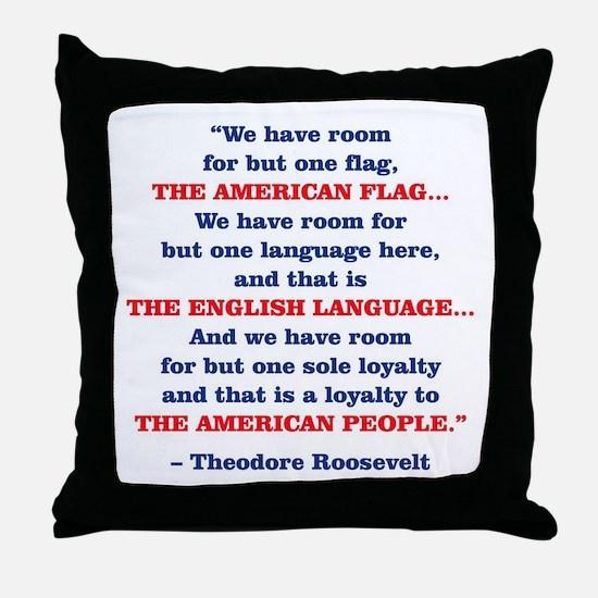 PRES26 ONE FLAG Throw Pillow
