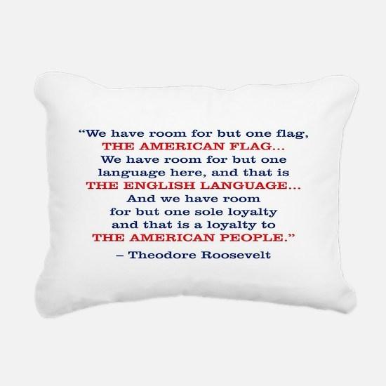 PRES26 ONE FLAG Rectangular Canvas Pillow