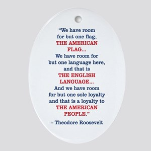 PRES26 ONE FLAG Oval Ornament