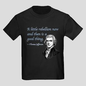 PRES03 LITTLE REBELLION Kids Dark T-Shirt