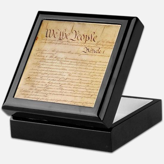 US CONSTITUTION Keepsake Box