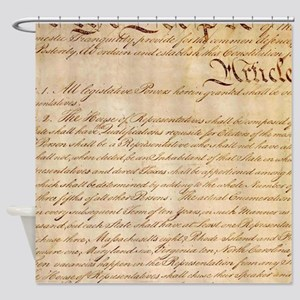 US CONSTITUTION Shower Curtain