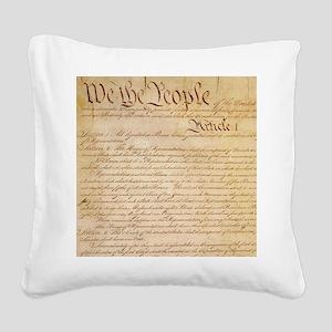 US CONSTITUTION Square Canvas Pillow