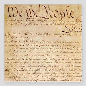 """US CONSTITUTION Square Car Magnet 3"""" x 3"""""""