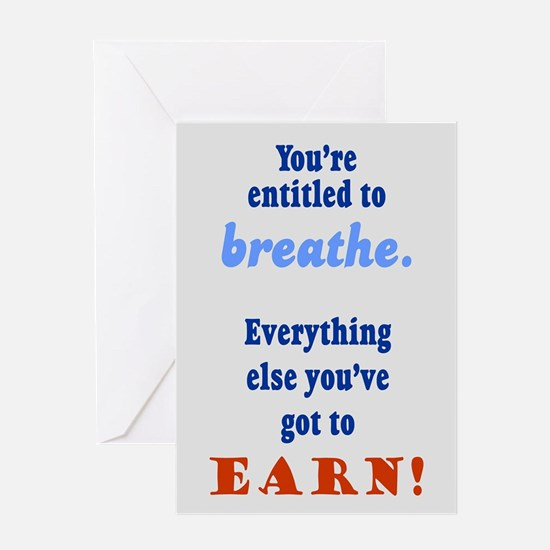 ENTITLED TO BREATHE Greeting Card