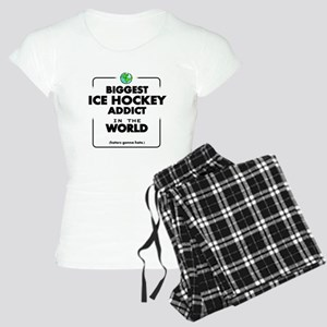 Biggest Ice Hockey Addict i Women's Light Pajamas