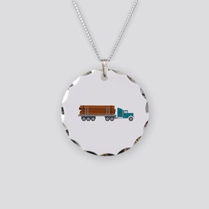 Semi Log Truck Necklace