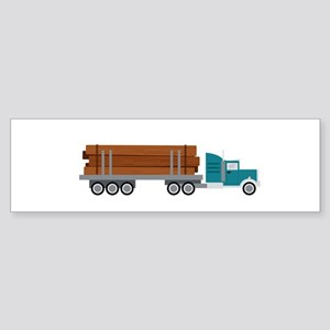 Semi Log Truck Bumper Sticker
