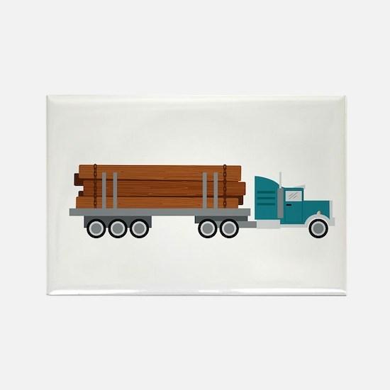 Semi Log Truck Magnets