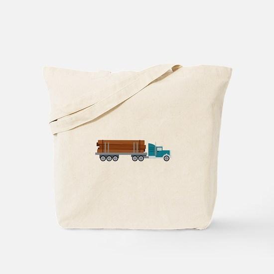 Semi Log Truck Tote Bag