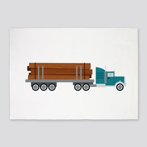 Semi Log Truck 5'x7'Area Rug
