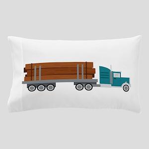 Semi Log Truck Pillow Case