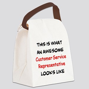 awesome customer service represen Canvas Lunch Bag