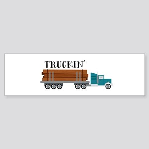 Truckin Bumper Sticker