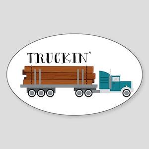 Truckin Sticker