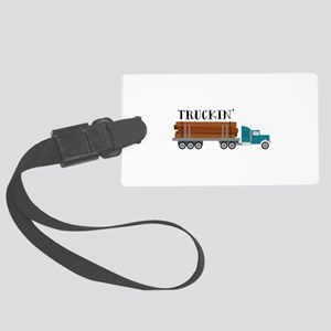 Truckin Luggage Tag