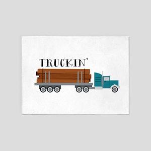 Truckin 5'x7'Area Rug