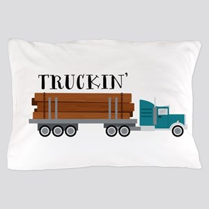 Truckin Pillow Case