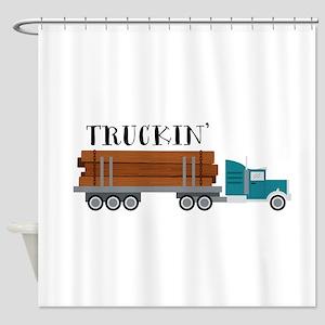 Truckin Shower Curtain