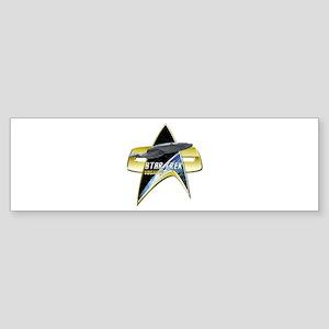 StarTrek Vogager Com badge Bumper Sticker