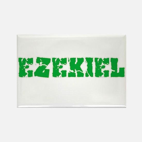 Ezekiel Name Weathered Green Design Magnets