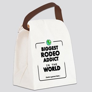 Biggest Rodeo Addict in the World Canvas Lunch Bag