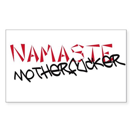 Namaste Rectangle Sticker