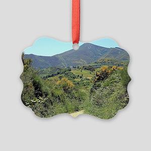 Mountains on El Camino near O'Ceb Picture Ornament