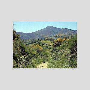 Mountains on El Camino near O'Cebre 5'x7'Area Rug