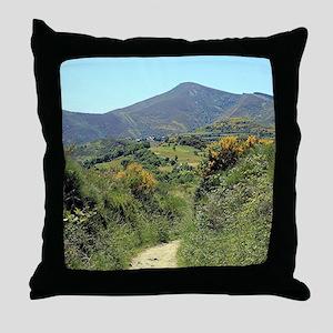 Mountains on El Camino near O'Cebreir Throw Pillow