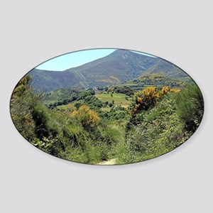 Mountains on El Camino near O'Cebre Sticker (Oval)