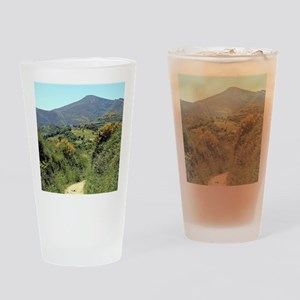 Mountains on El Camino near O'Cebre Drinking Glass