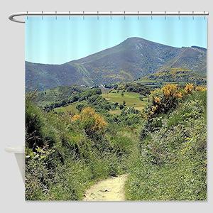Mountains on El Camino near O'Cebre Shower Curtain