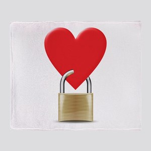 heart padlock Throw Blanket