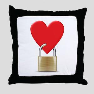 heart padlock Throw Pillow