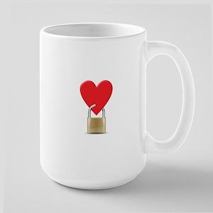heart padlock Mugs