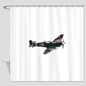 SPITFIRE MILITARY PLANE Shower Curtain